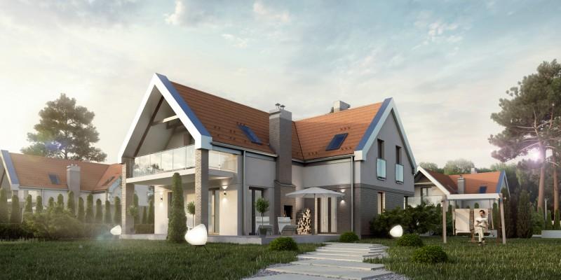 Osiedle domów w Tomaszkowie nad Jeziorem Naterskim